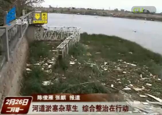 河道淤塞杂草生 综合整治在行动 2017-2-26
