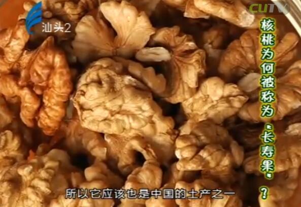 """核桃为何被称为""""长寿果""""? 2017-03-18"""