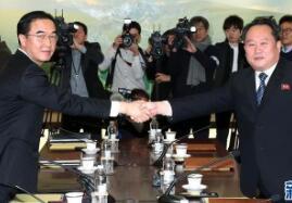 韩朝在板门店举行高级别会谈