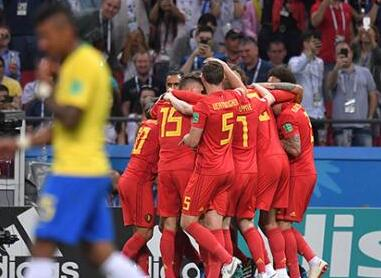 德布劳内爆射助比利时2:1胜巴西 半决赛约战法国