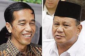 印尼总统选战开锣 佐科再战苏哈托女婿
