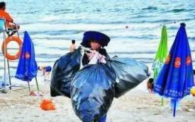 广东设立专职海滩保洁员