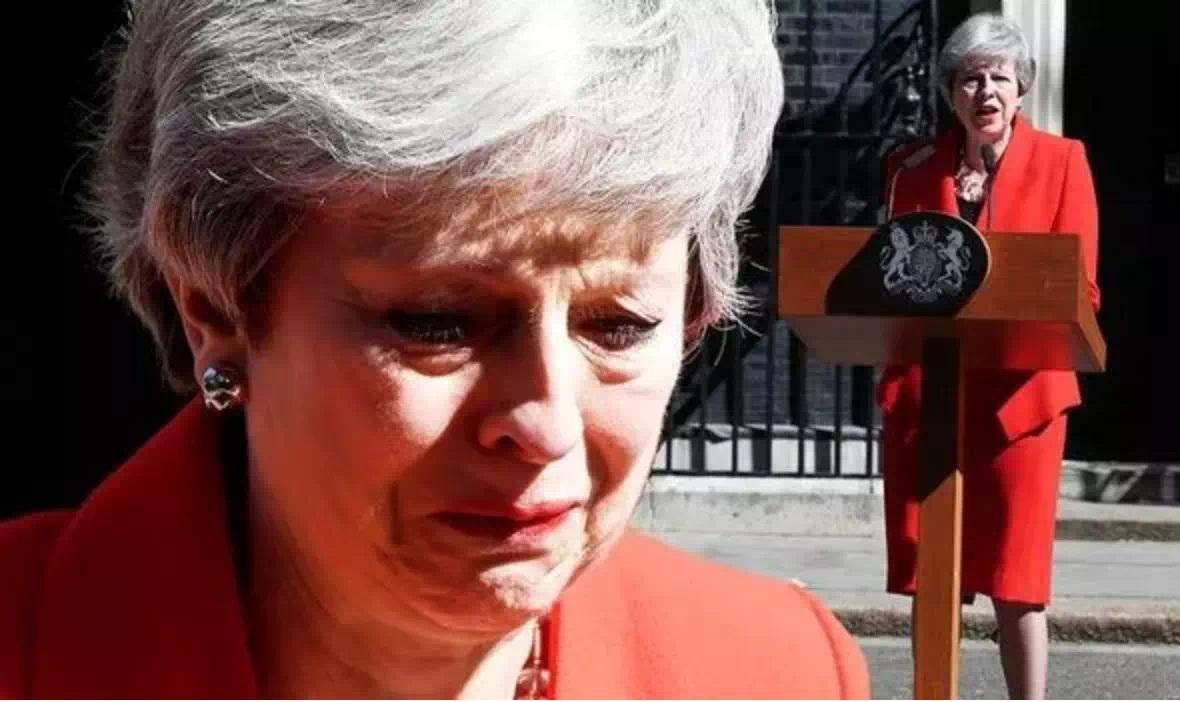 特雷莎·梅哭着宣布将辞职 时间6月7日!