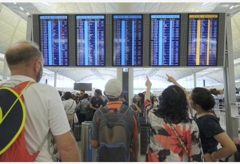 煽动24日再堵机场?香港警方强烈劝喻勿阻碍交通