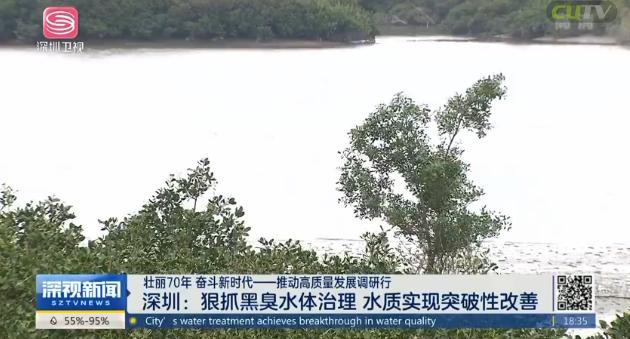 深圳:狠抓黑臭水體治理 水質實現突破性改
