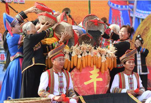 酸甜百香果、多汁蜜柚……八桂大地喜迎中国农民丰收节