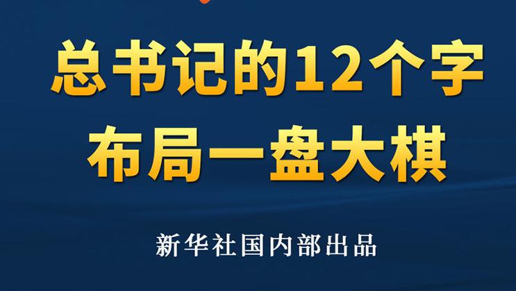 第一观察|总书记的12个字 布局一盘大棋    来源: 新华社