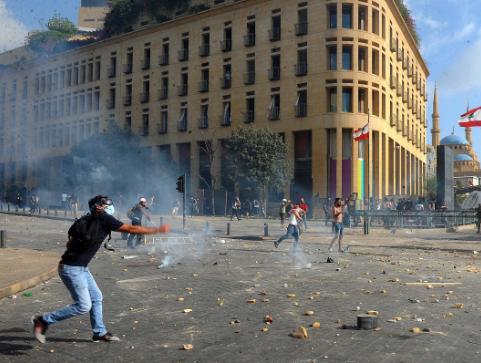 黎巴嫩首都发生大规模示威活动